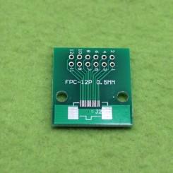برد دو لایه تبدیل SMD به DIP ویژه پکیج هایFPC 12p