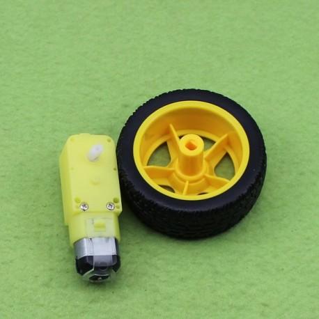 موتور گیربکس دار 1:48 به همراه چرخ 5-10 ولتی