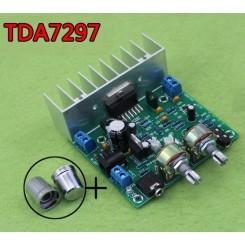 ماژول آمپلی فایر استریو 15*2 TDA7297 همراه با ولوم کنترل میکروفن