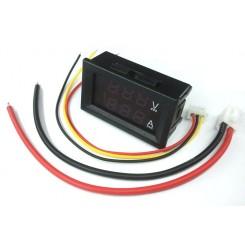 ماژول نمایشگر دیجیتال ولتاژ و جریان 100V / 50A DC