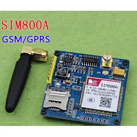 برد راه انداز SIM800A دارای قابلیت های SMS / GPRS / GSM به همراه آنتن