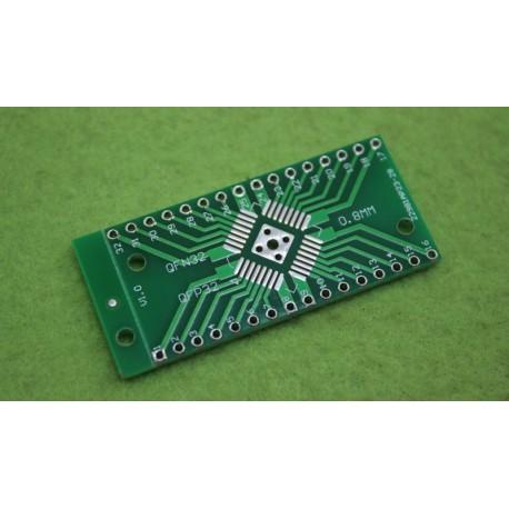 برد دو لایه تبدیل SMD به DIP ویژه پکیج هایQFN32 QFP32