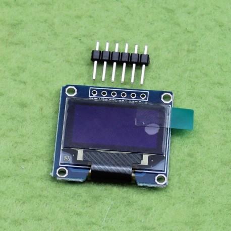 ماژول نمایشگر 128*64 OLED دارای ارتباط SPI با ابعاد 0.96 اینچ