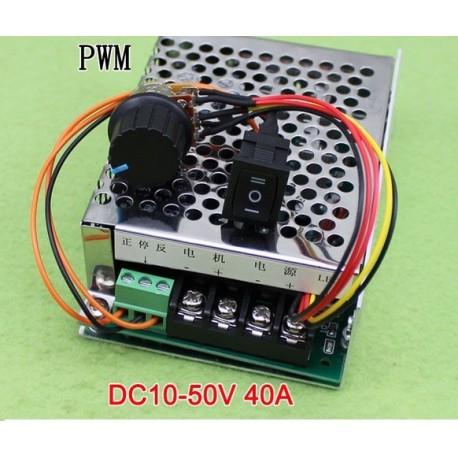 ماژول کنترل دور موتور DC - دارای ولتاژ DC 10-50V و جریان40 آمپر