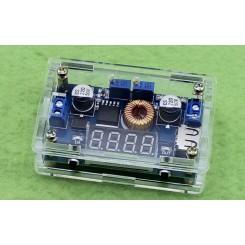 مبدل dc-dc کاهنده 5 آمپر با قابلیت کنترل جریان ولتاژ خروجی و همراه با نشانگر و کیس محافظ