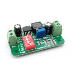 مبدل DC-DC کاهنده lm2596 با قابلیت تغییر سریع ولتاژ خروجی