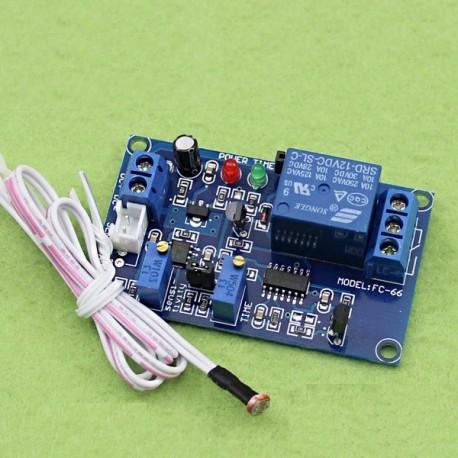 ماژول رله 12 ولت یک کاناله دارای سنسور نور فوتوسل و تایمر