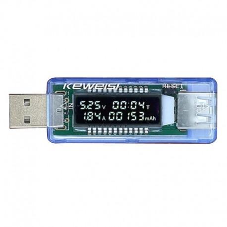 ماژول تستر USB با نشانگر جریان -ولتاژ و میزان شارژ انجام شده