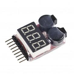 نمایشگر و مانیتور ولتاژ باتری مجهز به آلارم هشدار