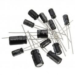 رنج پرکاربرد خازن الکترولیتی 12 رنج بسته10 تایی