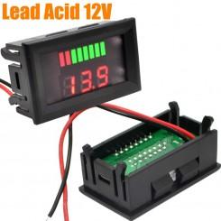 نشانگر دو ردیفه مقدار شارژ باتری های اسیدی 12 ولت