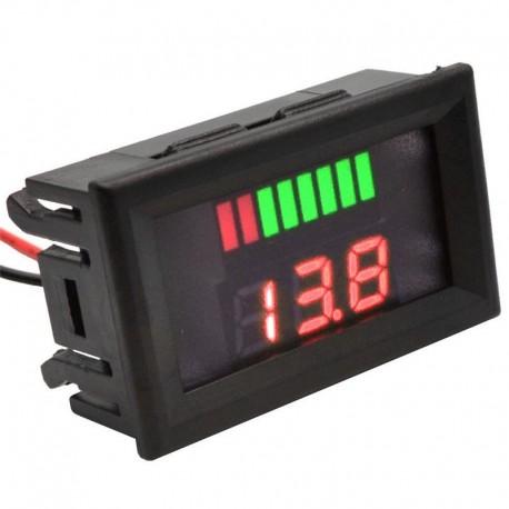 نشانگر دو ردیفه مقدار شارژ باتری لیتیومی 3 سل