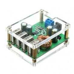 مبدل DC-DC کاهنده با چهار خروجی USB