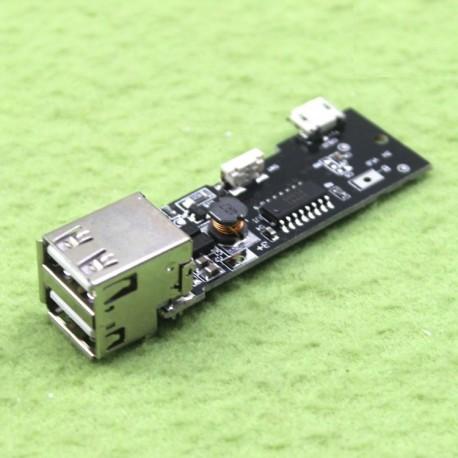 ماژول شارژر / دشارژر باتری لیتیومی دارای 2 خروجی مناسب برای ساخت پاور بانک
