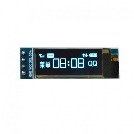 ماژول نمایشگر OLED تک رنگ 0.91 اینچ دارای ارتباط I2C