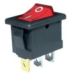 کلید راکر سه پین چراغ دار