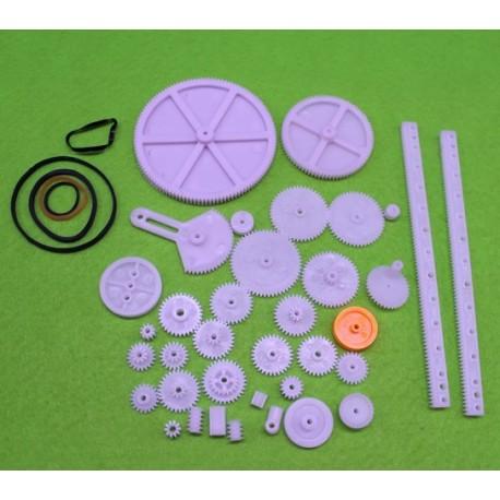 بسته 34 تایی انواع چرخ دنده