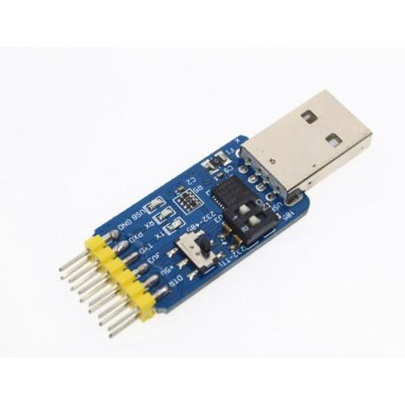 ماژول مبدل 6 در1 CP2102 (RS232-RS485-TTL)