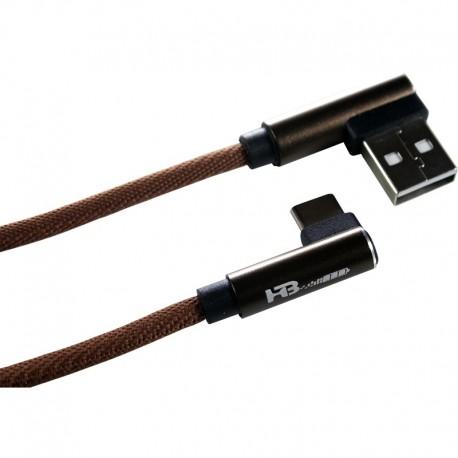 کابل شارژر یو اس بی تایپ سی همراه باتری مدل HB-535-CG