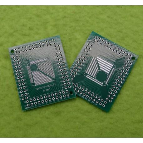 برد دو لایه تبدیل SMD به DIP ویژه پکیج هایFQFP TQFP LQFP