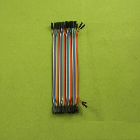 سیم bread board ماده به ماده 20 سانتی متر(بسته 20 تایی)
